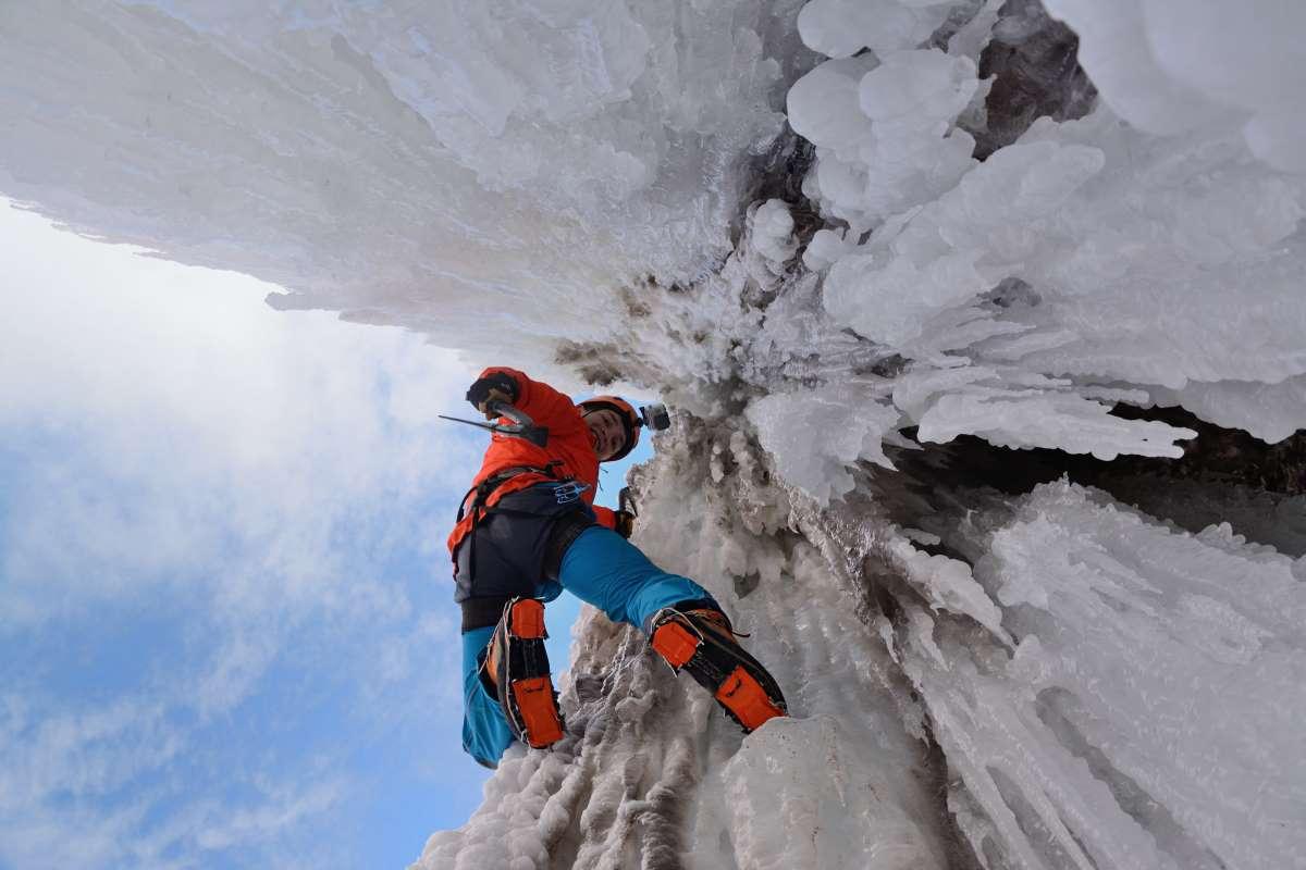 Escalar cascadas de hielo