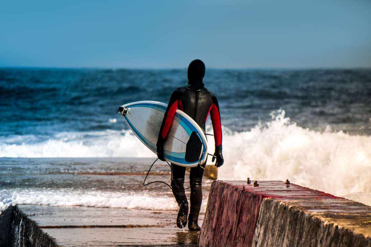 Hacer surf en invierno